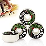 4X UGIN Professional Skateboard Wheels Fashion Design 52mm x 30mm Black and Red