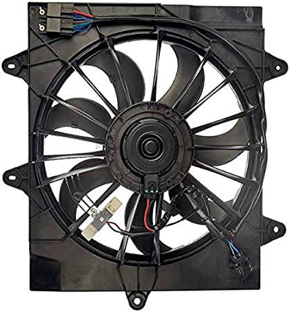 amazon com: apdty 732138 radiator cooling fan assembly with relays fits  2006-2010 pt cruiser w/turbo (replaces mopar 05179463aa, 5179463aa):  automotive