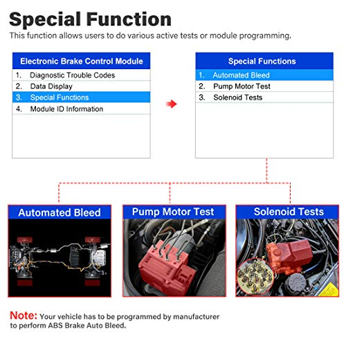Autel MaxiCheck Pro OBD2 Scanner Automotive Diagnostic Scan Tool with ABS Auto Bleed, SRS Airbag, Oil Reset, SAS, EPB, BMS for Specific Vehicles 1996 to 2012 by Autel (Image #7)