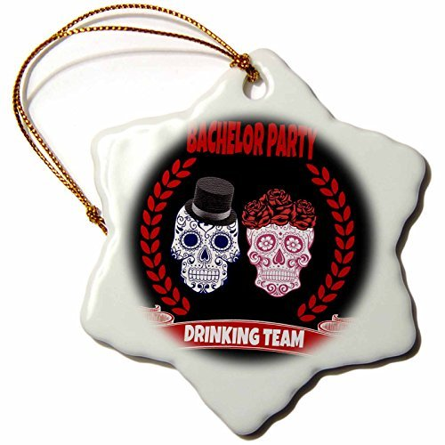 (Ornaments to Paint RinaPiro - Bachelor Quotes - Bachelor Party Drinking team. Sugar Skull. Funny quotes. Popular.)