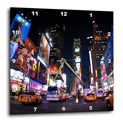 15 by 15-Inch 3dRose dpp/_4788/_3 New York City Times Square Wall Clock