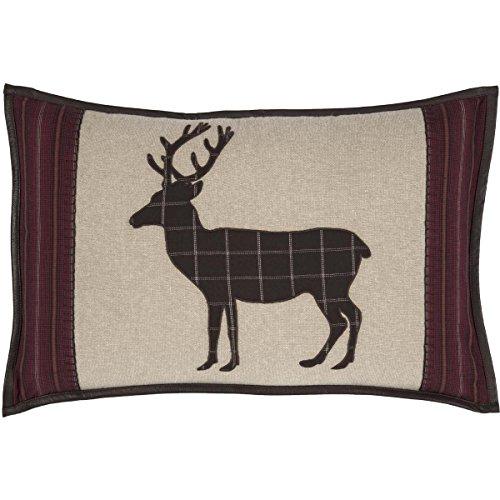 VHC Brands Rustic & Lodge Throws-Wyatt Tan Applique Deer 14″ x 22″ Pillow, Brown Review