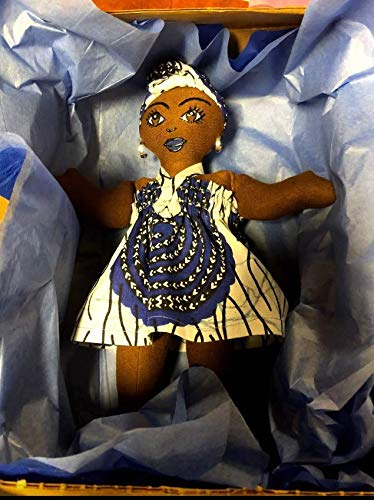 Black Doll Maker African American Doll Handcrafted Hand Painted African Inspired Collectible Doll 11 inch Doll Multicultural Doll Ethnic Doll Natural Hair Styles Black Doll Head Wrap