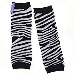 Huggalugs Baby Black Zebra Stripe Legwarmers Infant