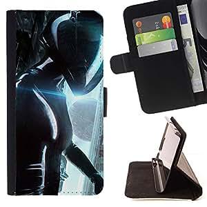 For HTC One Mini 2 M8 MINI Case , Camino al Futuro helicn- la tarjeta de Crédito Slots PU Funda de cuero Monedero caso cubierta de piel