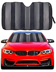 "MCBUTY Car Windshield Sunshade Thicken 5-Layer UV Reflector Auto Front Window Sun Shade Visor Shield Cover,Keep Vehicle Cool(Gary,55"" × 27.5"")"