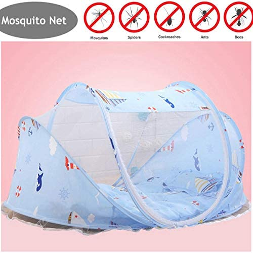 IUYJVR Mosquito Portable Cot Foldable Cradle Bed Net Stylish and Sturdy UniTent Net Outdoor Home Use for 0-12 Month(110 65 60Cm)