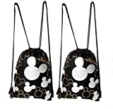 Cheap Disney Mickey Mouse Drawstring Backpack Silver 2 Pack