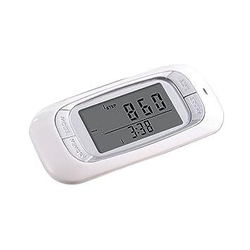Homyl Podómetro Digital Portátil con Sensor de 3D para Deporte Calculadora de Calorías con Función de Reloj - Blanco: Amazon.es: Deportes y aire libre