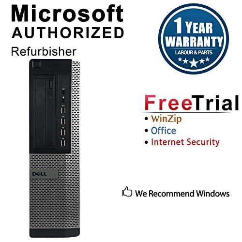 2018 Dell Optiplex 7010 Desktop Computer (Intel Core i5-3470 3.2GHz Up To 3.6GHz,8GB DDR3 RAM,240GB SSD,DVD-ROM,Windows 10 Pro 64-Bit) (Certified Refurbished) (Ddr3 Ssd)