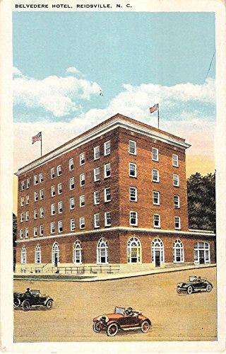 Reidsville North Carolina Belvedere Hotel View From Side Antique Postcard V6151