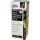 Gaia Herbs, Rapid Relief, Black Elderberry NightTime Syrup, 5.4 fl oz (160 ml) - 3PC