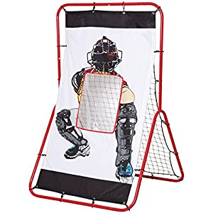 Net Playz Personal Speed Radar Baseball/Softball 2 In 1 Pitching & Rebound Trainer Combo