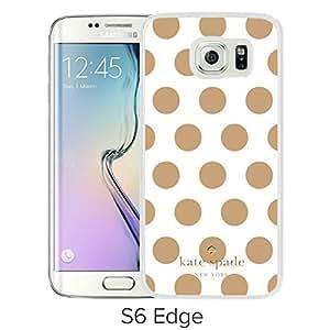 Samsung Galaxy S6 Edge Kate Spade 9 White screen cellphone case Luxurious and Grace design