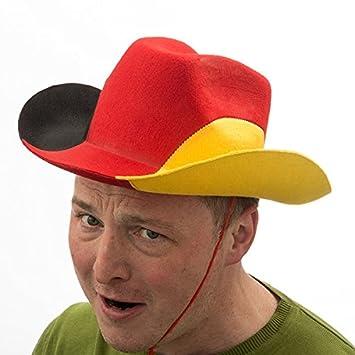 Filz Cowboy-Hut Deutschland Fanartikel Fu/ßball Deutschland Cowboyhut