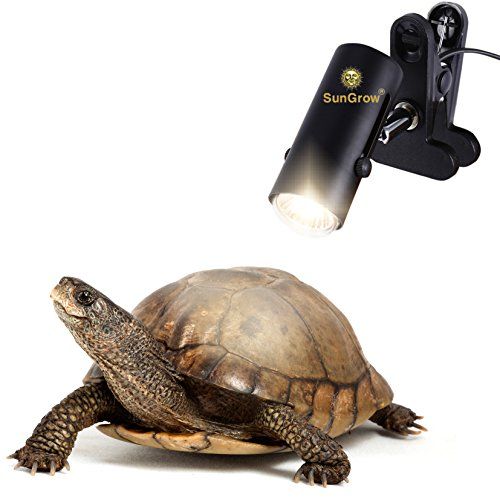 110-volt Heat Light Fixture for Reptiles — Unique 360° Rotating Lamp Head – Securely Clamps or Hangs in your Turtle, Snake, Lizard or Amphibian Tank – Reliable & Easy to Use – Bulb not included