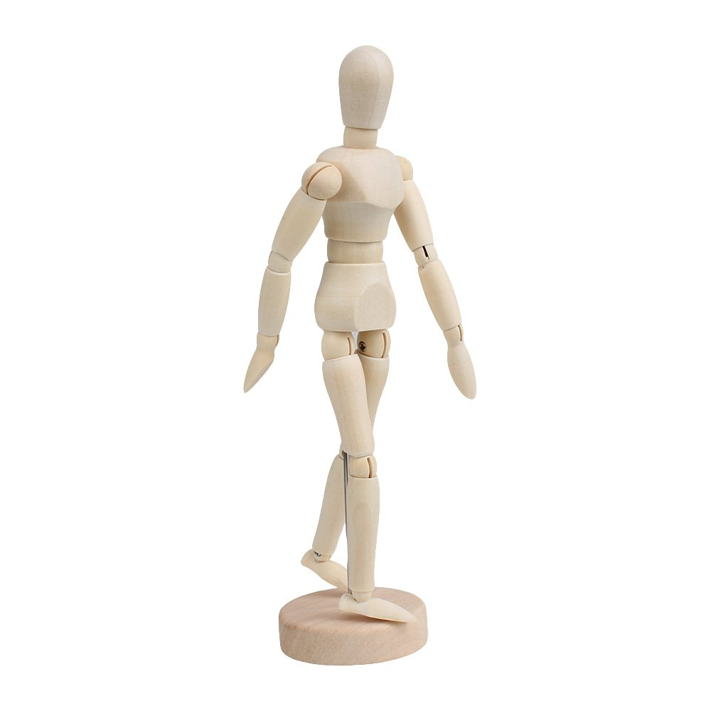 BQLZR 5.5Inch Artists Wooden Manikin Mannequin Moveable Adjustable Limbs Human N11836