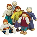 Small World Toys Ryan's Room Wooden Doll House Accessories - Family Affair (Caucasian Family)