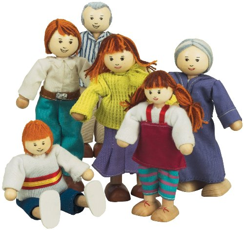 Small World Toys Ryan's Room Wooden Doll House Accessories - Family Affair (Caucasian Family) (World Ryans Toys Small Room)