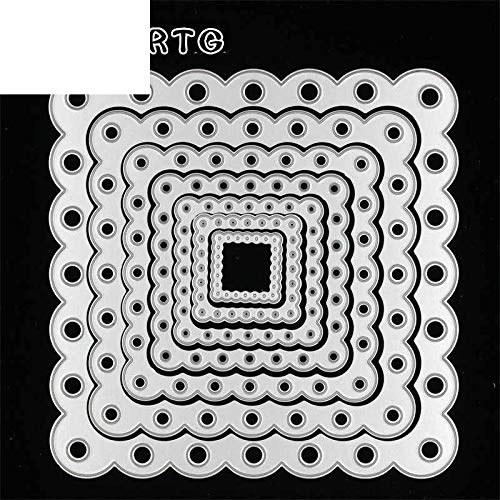(Lace Square Die Cuts Metal Cut Cutting Dies Mold Tool in Scrapbooking Scrapbook Embossing Folder Suit for Machine)
