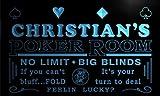 pd235-b Christian's Man Cave Poker Room Bar Neon Sign