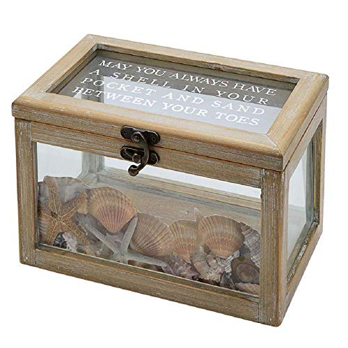 Mud Pie Wood and Glass Beach Shadow Box