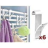 WENKO Rundheizkörper-haken Heizkörper Haken Handtuchhalter Handtuchhaken 6 stück