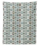 Ambesonne Casino Tapestry Twin Size, Card Suits Hearts Spades Diamonds and Clubs Pattern Gaming Houses Addiction Print, Wall Hanging Bedspread Bed Cover Wall Decor, 68 W X 88 L inches, Multicolor