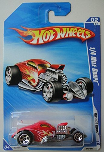 Hot Wheels '10 HOT RODS, RED 1/4 MILE COUPE 140/240