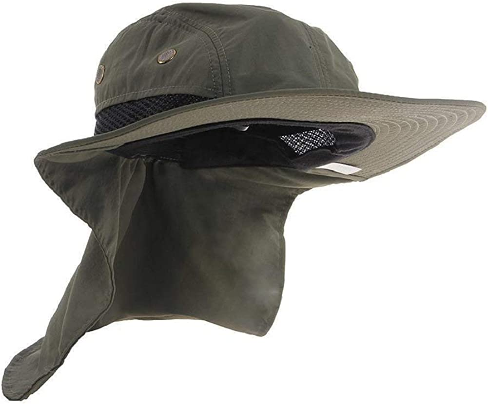 Ideal for Fishing//Hiking//Hunting UV Protection Outdoor Sun Hats Wide Brim Neck Flap Ear Full Cover