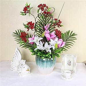 FYYDNZA Simulation Rose Silk Bouquet Suit Living Room Table Decoration Home Decoration Magnolia Flower 39