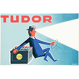 Tudor Battery Driver Rohonyi | 24in x 16in Vintage Belgian Poster Print