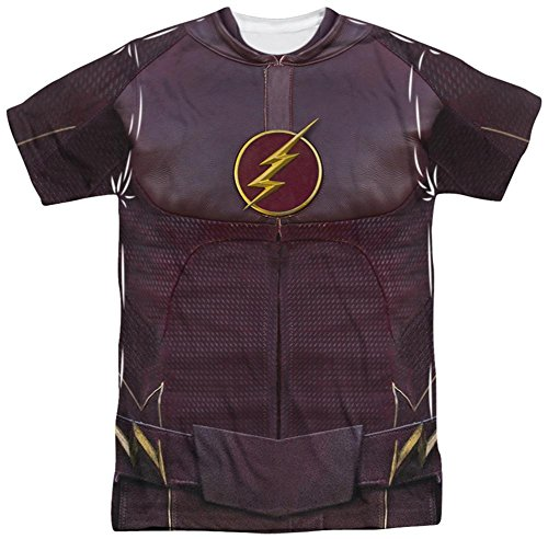 [The Flash - Flash Uniform T-Shirt Size M] (Cw Reverse Flash Costume)