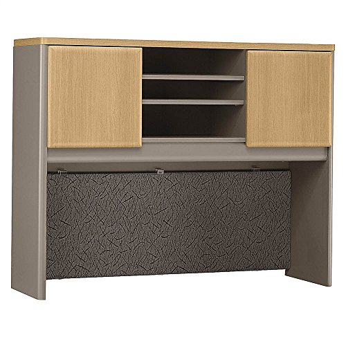 Bush Business Furniture Series A Collection 48W Hutch in Light Oak