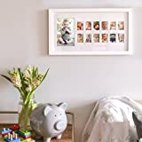 "Pearhead""My First Year"" Photo Moments Baby Keepsake Frame, White"