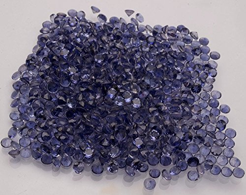 Blue Iolite Gem (Natural Iolite 2mm Faceted Cut Round 10 Pieces Lot Top VS Quality Blue Color Loose Gemstone)