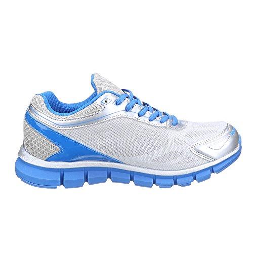 Ital-Design - Zapatillas de Material Sintético para hombre Gris - gris azul