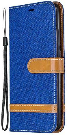 Docrax Huawei Mate30 Lite ケース 手帳型 スタンド機能 財布型 カードポケット マグネット ファーウェイMate30lite 手帳型ケース レザーケース カバー - DOBFE020316 紺