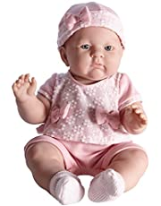 JC TOYS, realistische Baby-Puppe Lily, Hellrosa, 45,7 cm