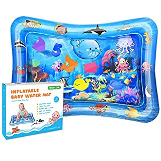 Bright One Tummy Time Water Play Mat - Inflatable Play Mat for Infants 3 6 9 Months - Sensory Baby Toys for Girls and Boys