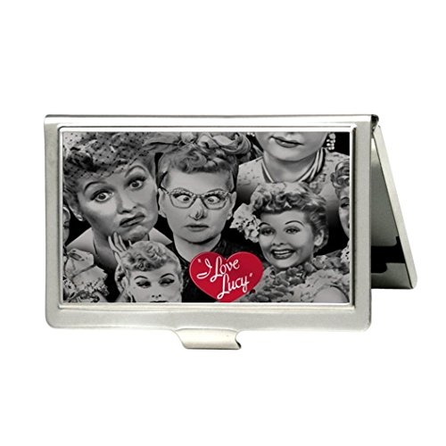Love Lucy Metal (I Love Lucy Custom Fashion Metal Stainless Steel Pocket Business Name Credit ID Card Case Box Holder)