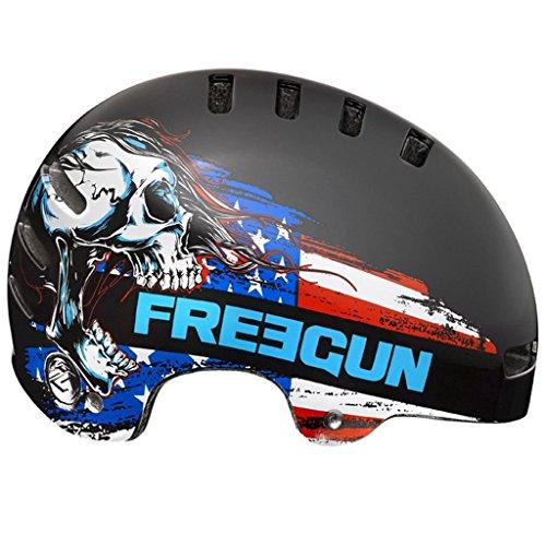Casque De Vélo Lazer 2014 Street Freegun Skull Noir (L , Noir)