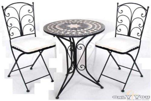 Schon ... Tisch 2 Stühle Gartenmöbel Sitzgruppe Mosaik Eisen: Amazon.de Gartenstuhl  Metall Mosaik Planen ...
