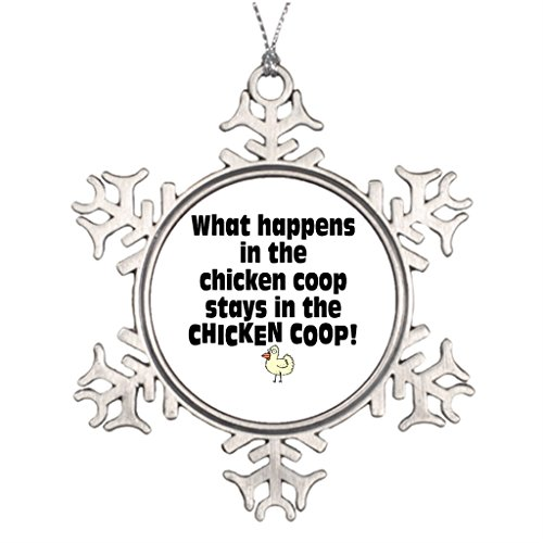 Pracy Tree Branch Decoration W Happens in the Chicken Coop Bysandra Cool Snowflake Ornaments (Chicken Coop Decorations compare prices)