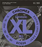 D'Addario Guitar Strings Set, Chromes, Jazz Light