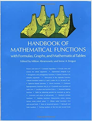 Handbook of Mathematical Functions Dover Books on Mathematics ...