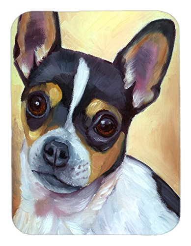 Carolines Treasures 7359LCBChihuahua Black and Tan Glass Cutting Board Large Multicolor
