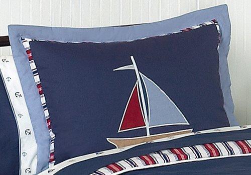 Sweet Jojo Designs 3-Piece Nautical Nights Boys Sailboat Children's Bedding Full / Queen Set by Sweet Jojo Designs (Image #1)