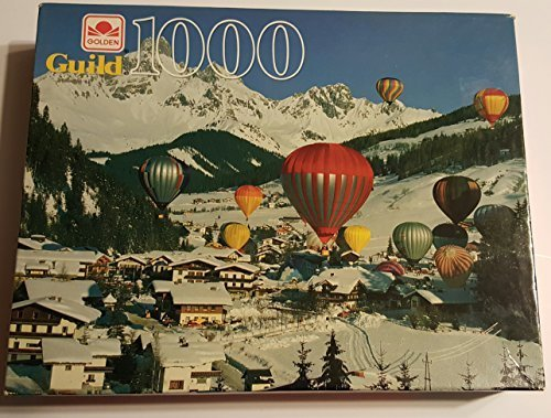 Snowy Air (Golden Guild Hot Air Balloons Over Snowy Mountain Puzzle 1000 Piece)