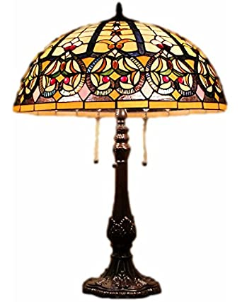 Tiffany style stained glass table lamp granduer w 20 shade tiffany style stained glass table lamp quotgranduerquot aloadofball Image collections